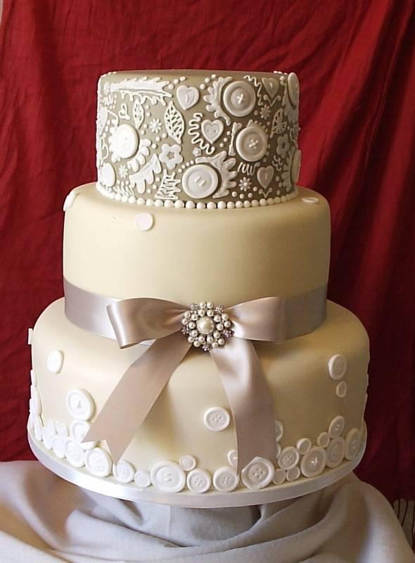 Taupe Wedding Cake